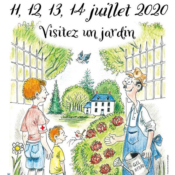 Affiche Jardins ouverts le 14 juillet 2020
