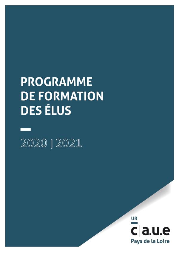 Programme de formation de élus 2020-2021