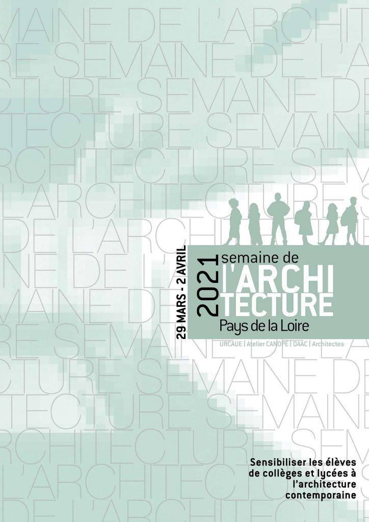 Affiche Semaine de l'architecture 2021